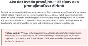 Zdieľaná ekonomika dáva Slovákom zarobiť